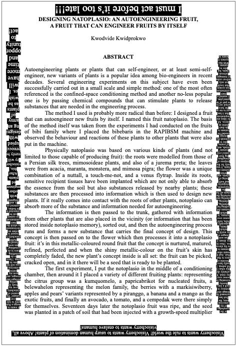 Image of word doc, described in text of story below.